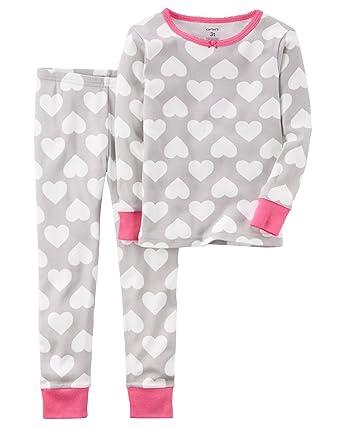 799c617b6080 Carter s Baby Girls Holiday 2-Piece Snug Fit Cotton PJS - Grey ...