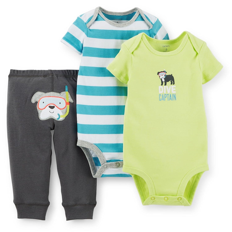 Amazon Carter s Baby Boys 3 Piece Bodysuit & Pant Set Scuba