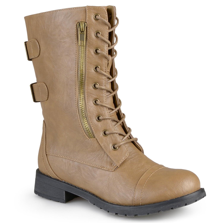 Brinley Co Womens Kiley Combat Boot