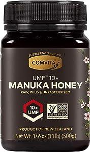 Comvita Certified UMF 10+ (MGO 263+) Raw Manuka Honey I New Zealand's #1 Manuka Brand I Authentic, Wild, Unpasteurized, Non-GMO Superfood I Premium Grade I 17.6 oz