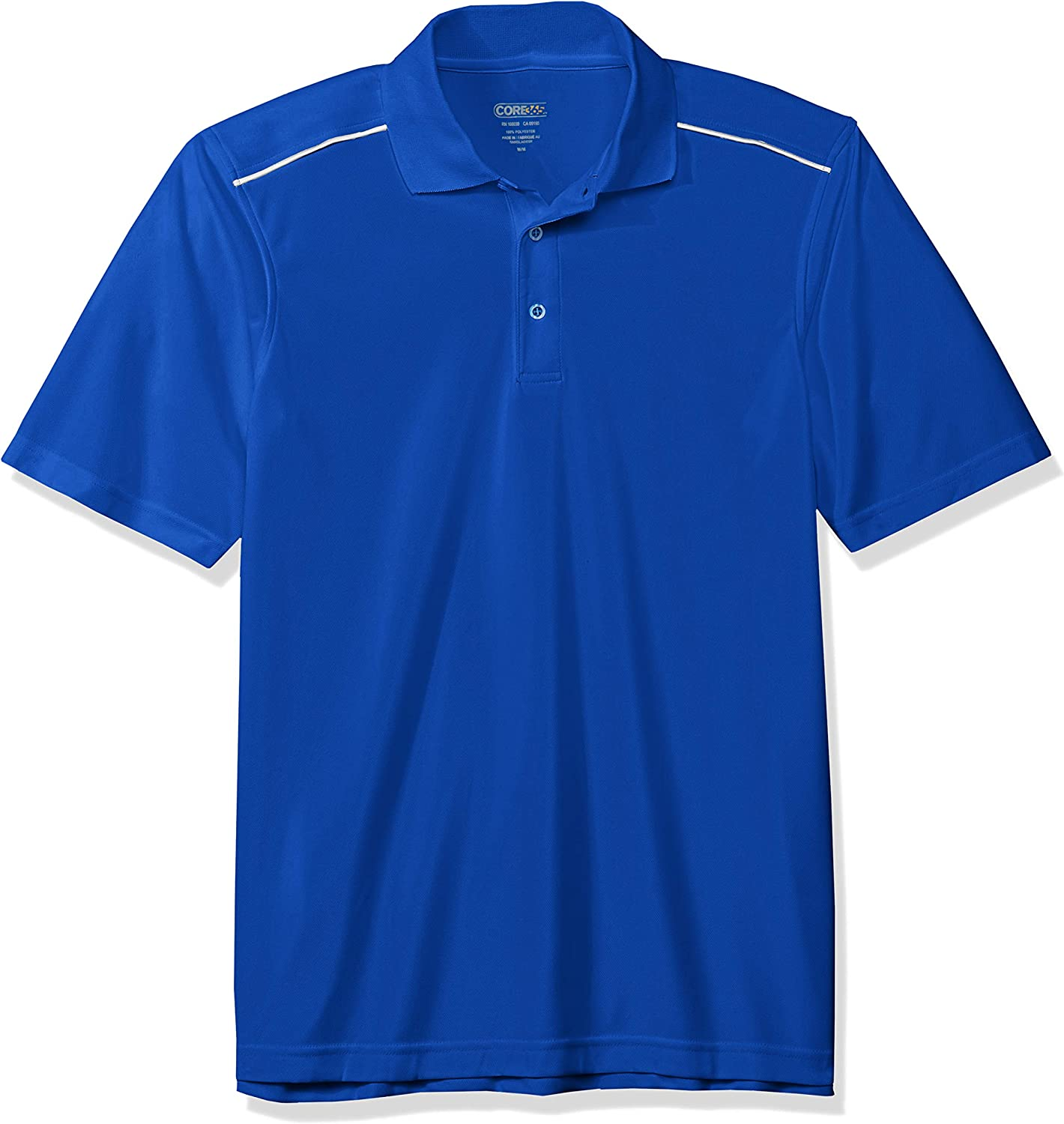 Ashe City Mens Acty-88181r-performance Piqu/é Polo with Reflective Piping