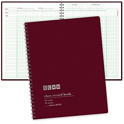 Class Record Book For 9 10 Weeks 35 Names Larger Grade Recording Squares