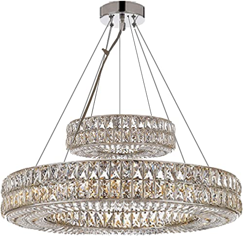 Crystal Nimbus Ring Chandelier Modern/Contemporary Lighting Pendant 40″ Wide