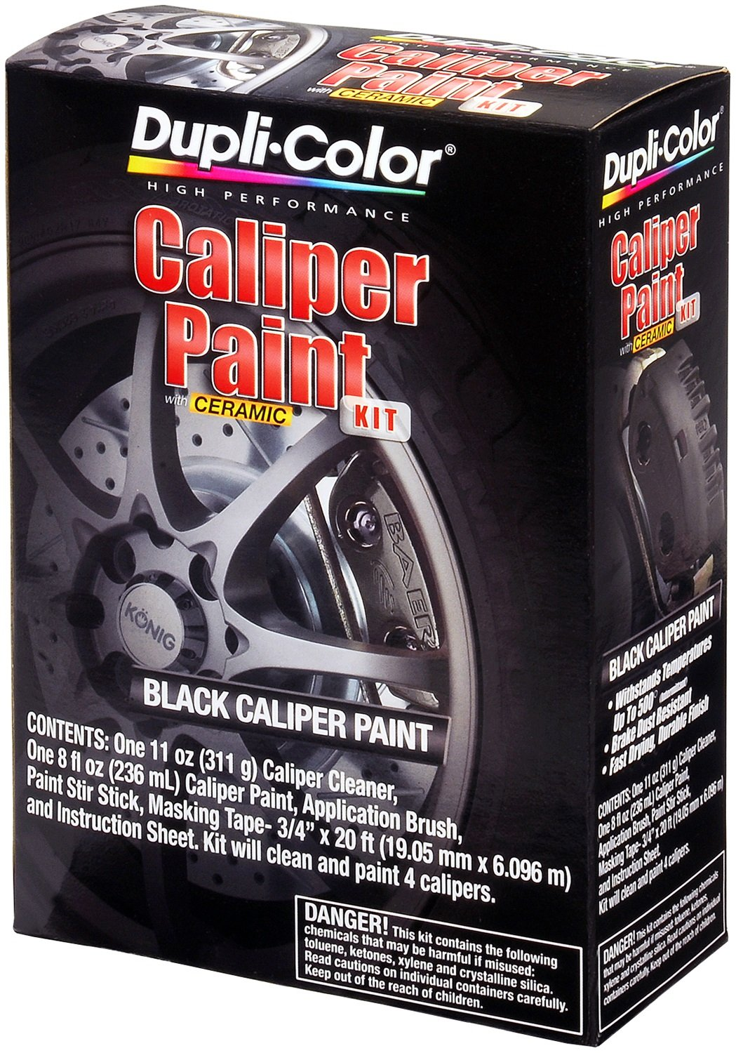 Dupli-Color Single EBCP40500 Caliper Paint Kit Gloss Black Dupi-Color