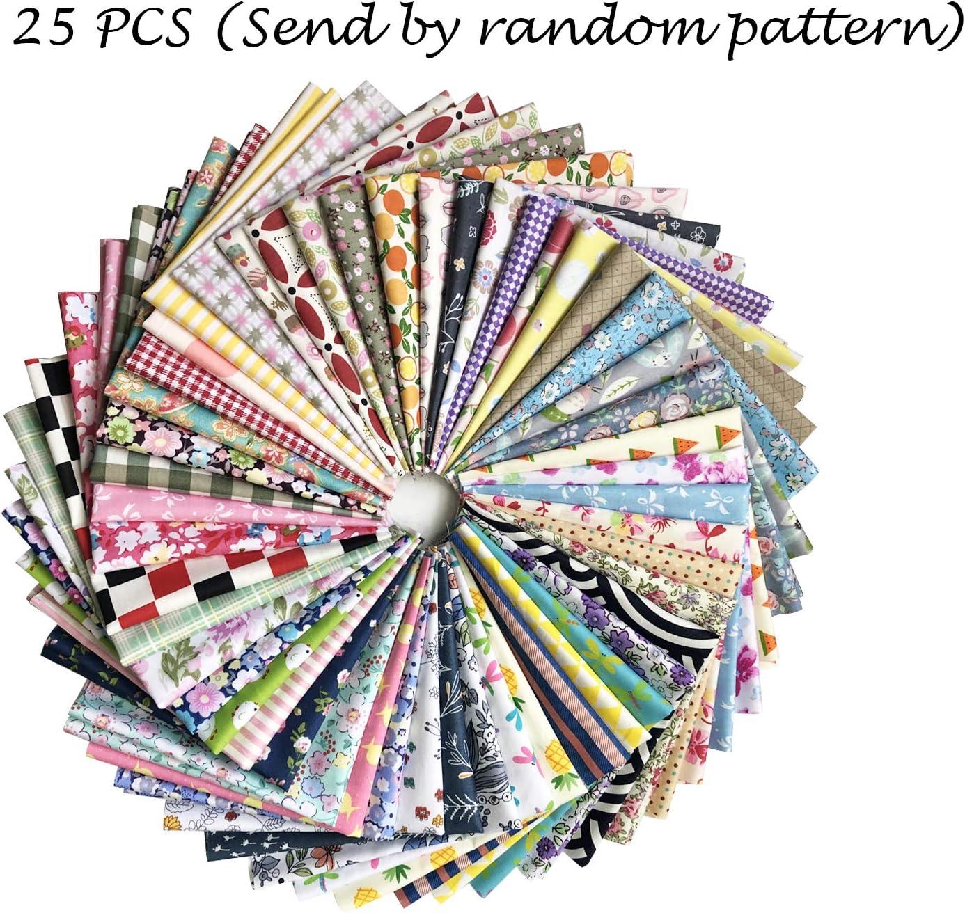 100Pcs 10*10cm Assorted Bundle Quilt Quilting 100/% Cotton Fabric Sewing DIY