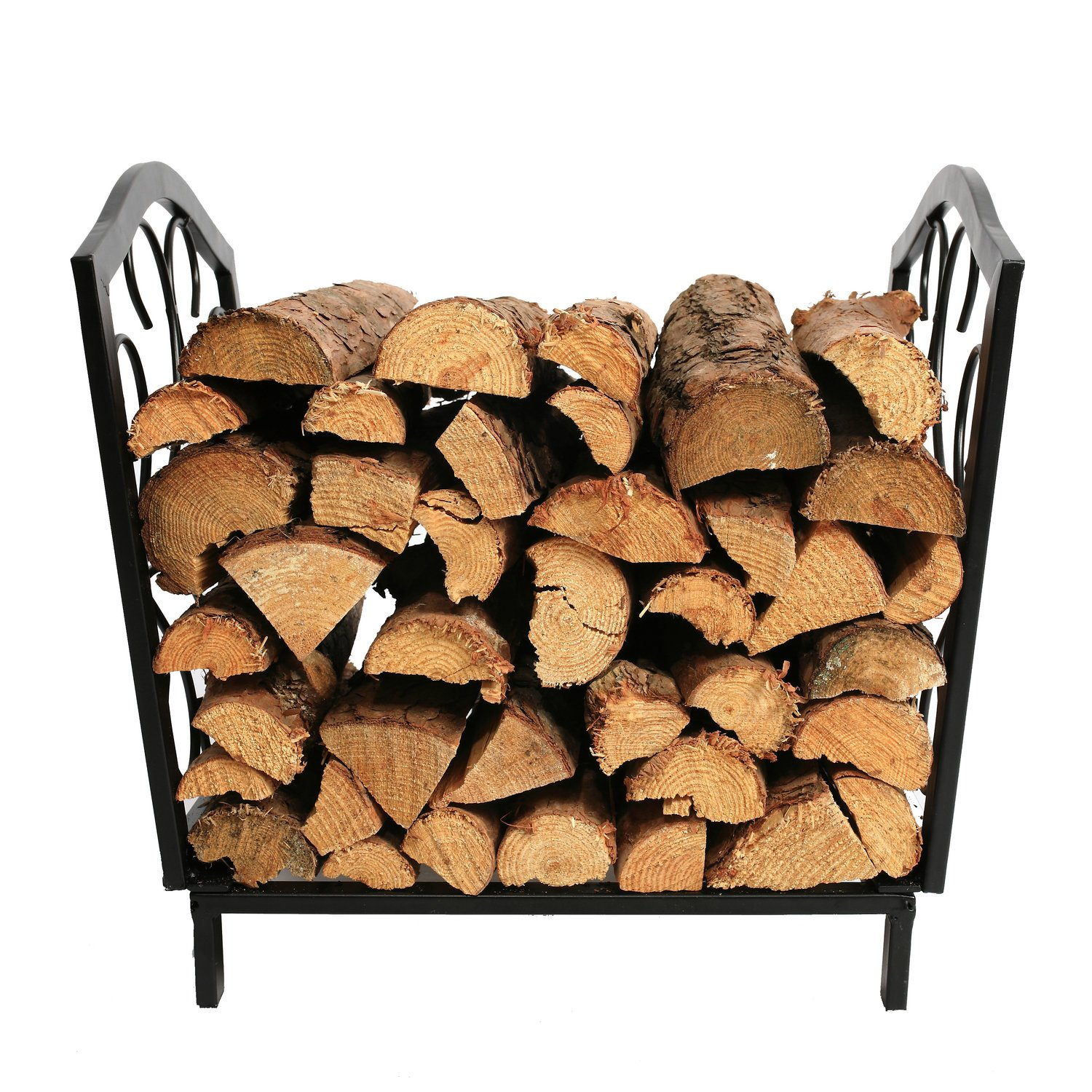 1.Go 16.75 Inches Indoor Decorative Firewood Rack, Fireside Log Rack for Fireplace