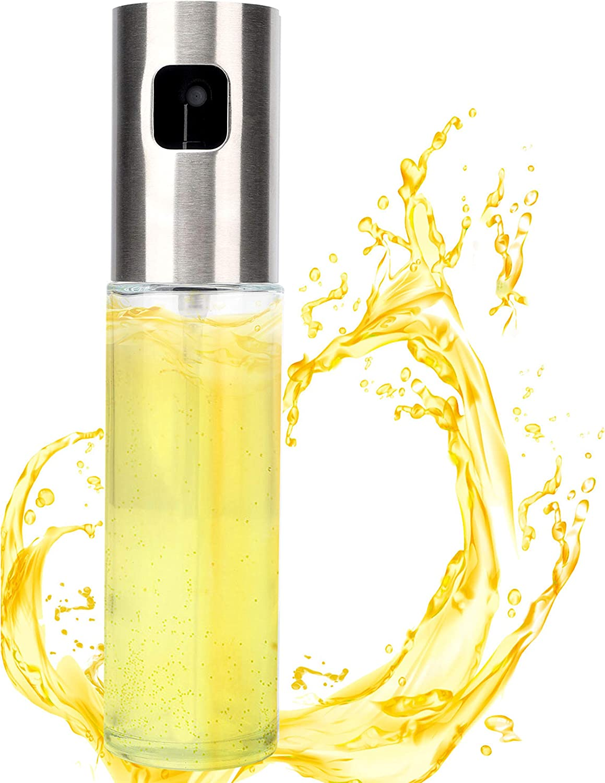 Ruolan Olive Oil Sprayer Mister Oil Sprayer for Cooking,Food-Grade Glass Oil Spray Transparent Vinegar Bottle Oil Dispenser for Kitchen BBQ, Grilling and Roasting