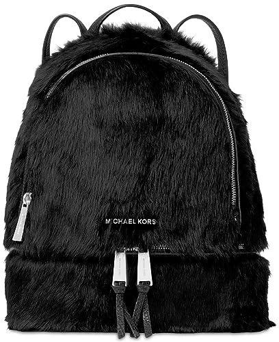 62b6f93a01ca1f Amazon.com: Michael Michael Kors Rhea Medium Back Pack Fur - Black (Shaved  Shearling): Shoes