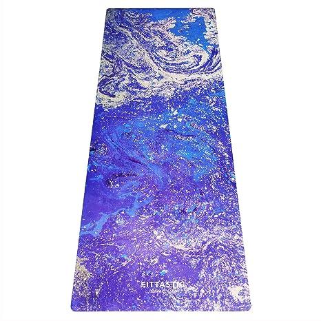 La fittastic Premium All-in-One – Esterilla de yoga. Antideslizante, toalla/Matte en un. Designed para una mejor sujeción al sudor. materiales ...