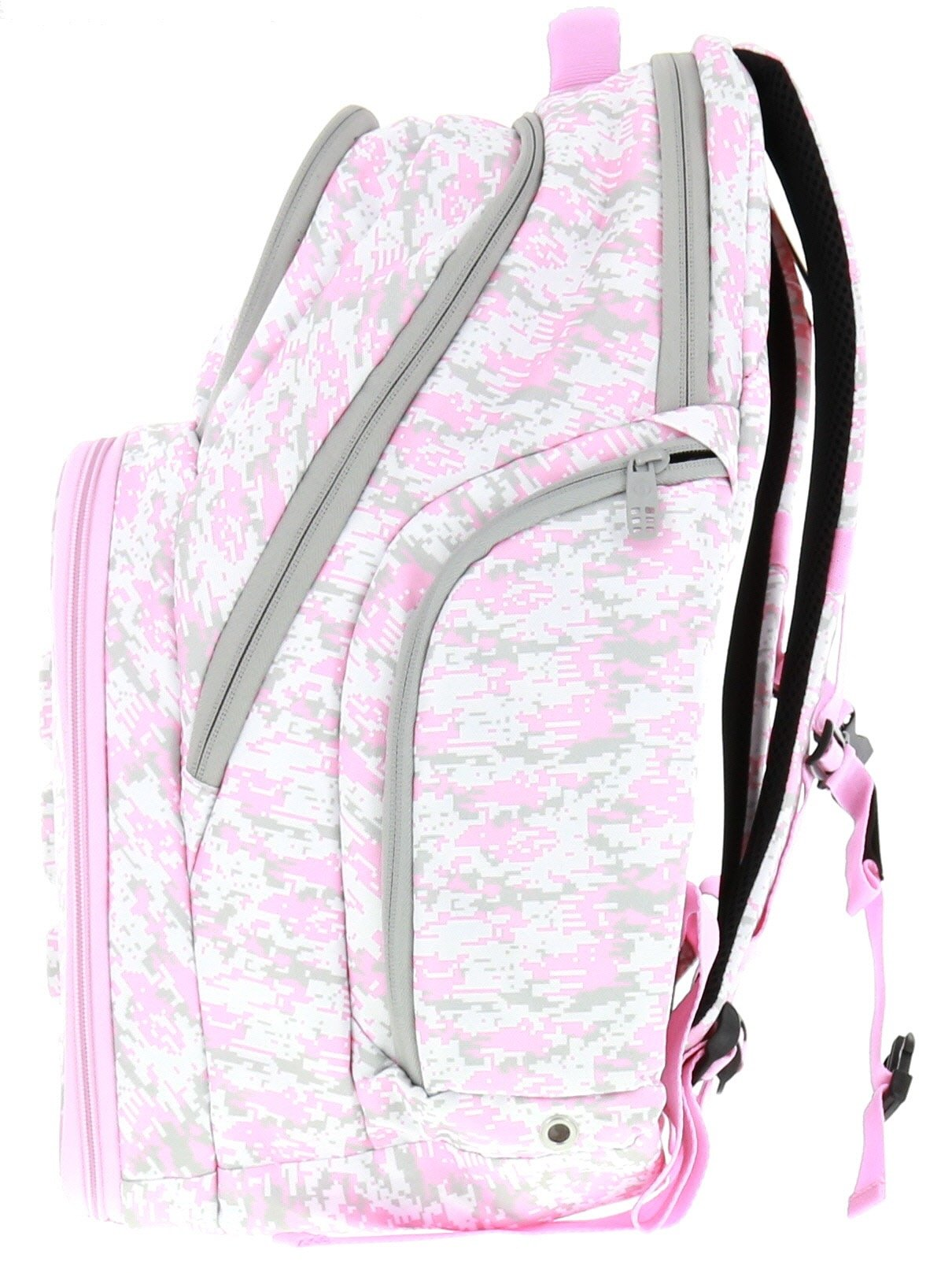6 Pack Fitness Expedition Backpack W/ Removable Meal Management System 500 Pink & Grey Digital Camo w/ Bonus ZogoSportz Cyclone Shaker by 6 Pack Fitness (Image #6)