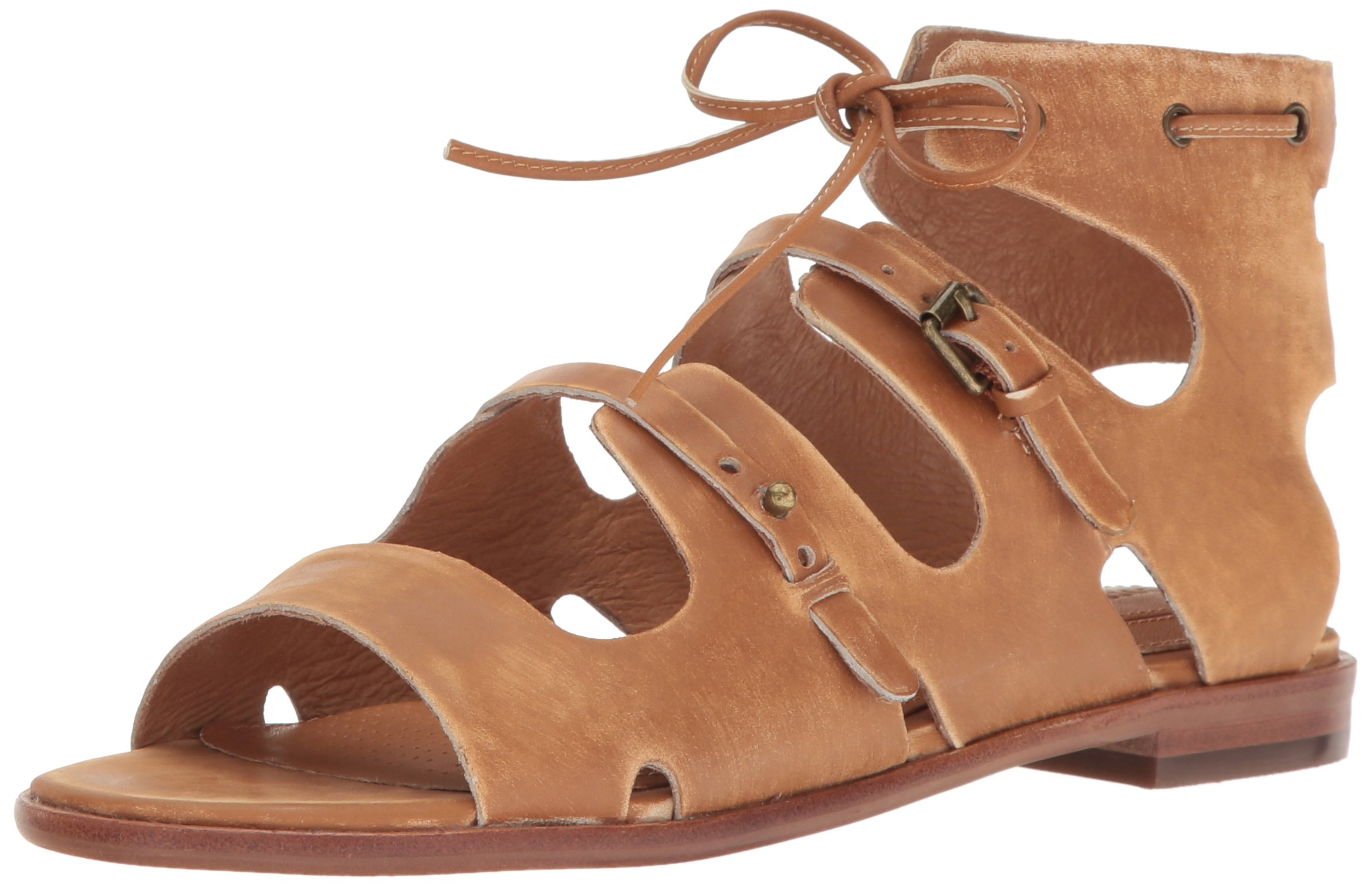 Corso Como Women's Tiki Flat Sandal, Camel Worn Leather, 8.5 US/8.5 M US