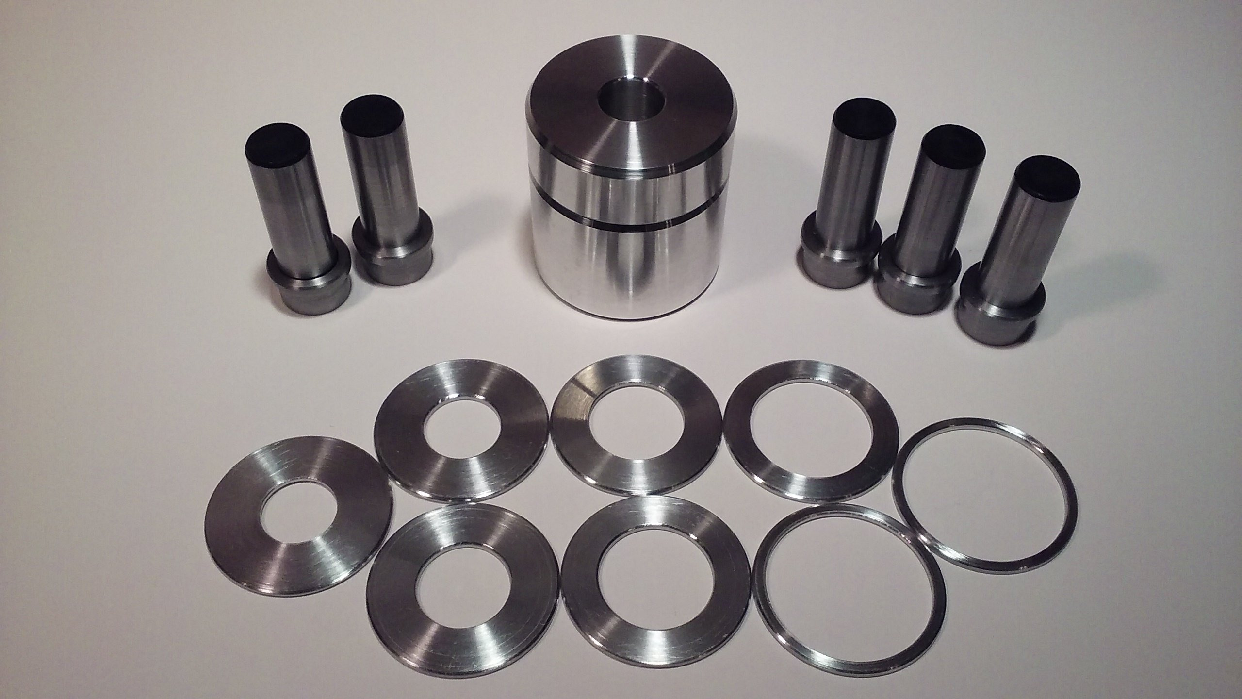 Coin Ring Center Punch 1.75'' for Rounds. Get All 5 Punches and 8 Spacers!!! by Austin Swenson