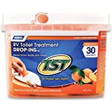 Camco TST Ultra-Concentrated Orange Citrus Scent RV Toilet Treatment Drop-Ins, Formaldehyde Free, Breaks Down Waste And Tissue, Septic Tank Safe, 30-Pack (41183)