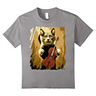 Cello Violoncello Cellist Gift Funny Musical T-Shirt Cat