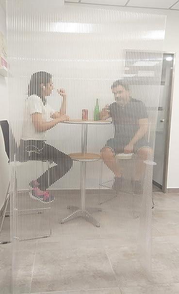 Mampara de protección transparente | separador para negocios,hostelería y restaurantes, fabricas, puestos de trabajo (100 cm ancho x 170 cm alto): Amazon.es: Oficina y papelería