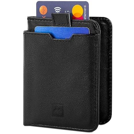 700125ab07 Mercor Portafoglio Uomo Piccolo Porta Carte di Credito RFID   Porta Tessere  Sottile in Pelle Premium