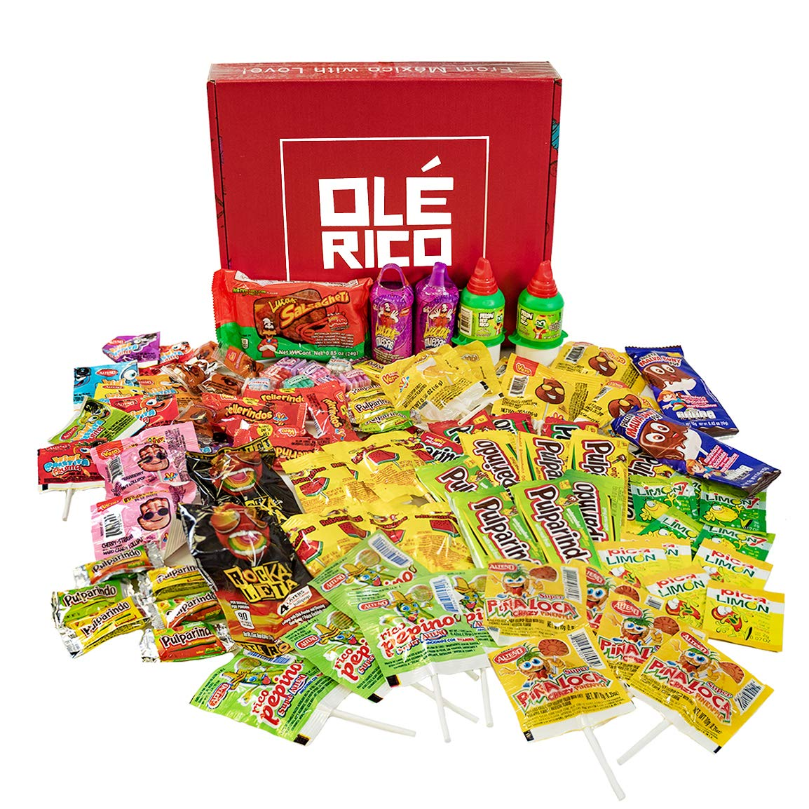 Mexican Candy Variety Box (90 Count) by Ole Rico