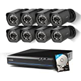 Zmodo sPoE 8CH HDMI Simplified All-in-One Cable NVR Surveillance Video Security Camera System with 8x720P HD Weatherproof Cameras 1TB HD Remote Access Motion Detection
