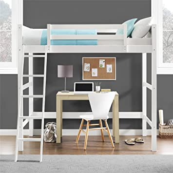 Amazon Com Dorel Living Moon Bay Loft Bed Twin White Furniture Decor