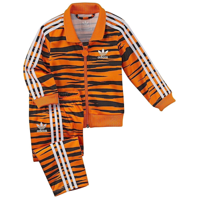 f00d03bc76b Amazon.com: Adidas Firebird Tiger Track Suit Orange Black G69616 Kids Baby  Jacket Pants Set (Size 18 Months): Baby