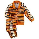 Adidas Firebird Tiger Track Suit Orange Black