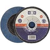 SBS Fächerscheiben | Ø 115mm | Korn 80 | 10 Stück | Inox blau Metall & Holz Winkelschleifer Schleifmop