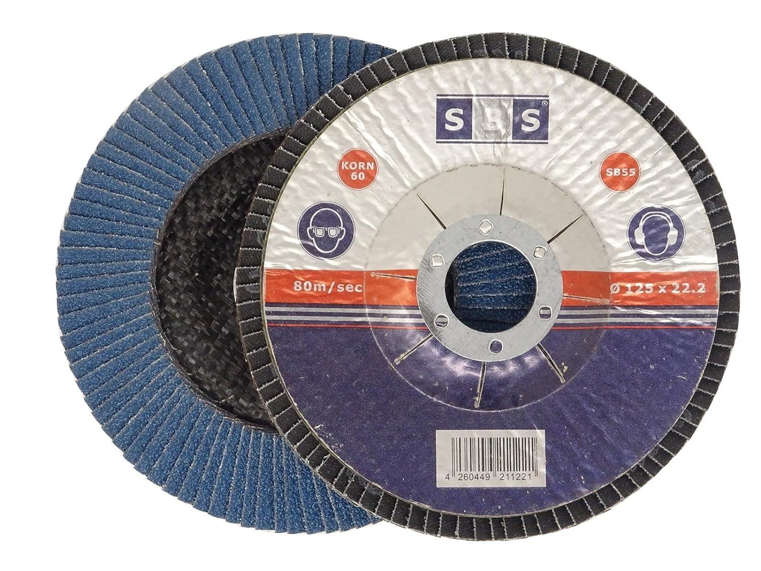 10 discos abrasivos laminados de 125 mm de diá metro, color azul o marró n, discos abrasivos color azul o marrón Schlößer Baustoffe GbR