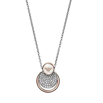 Emporio Armani Women's Silver Necklace EGS2156040 OfJ4W