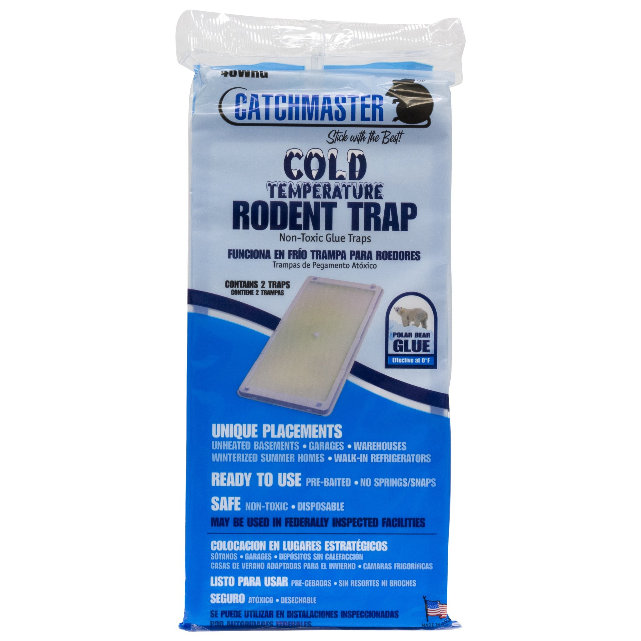 Catchmaster 48WRG Cold Temperature Glue Boards 1 Case 24 X 2 Pks. (48 Traps) by Catchmaster