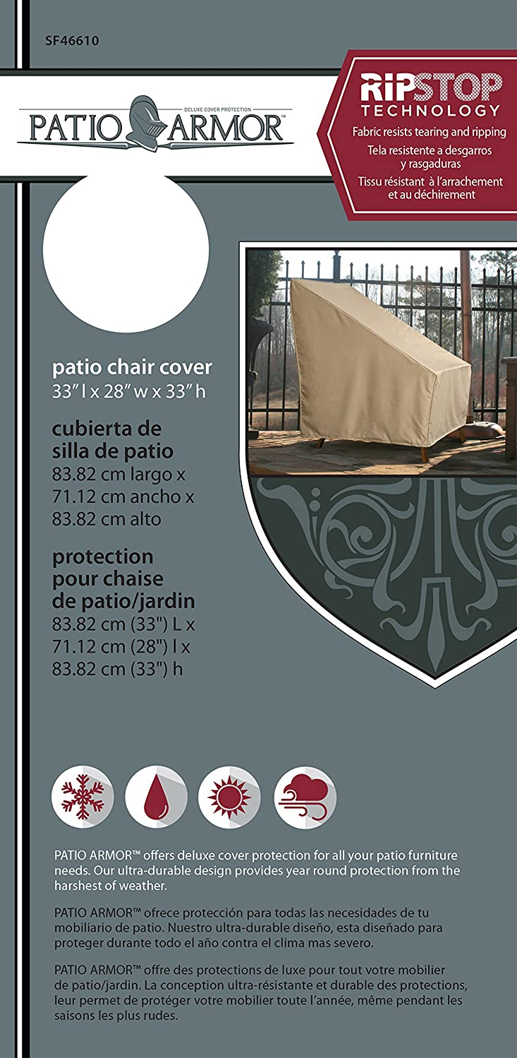 Sure Fit Patio Armour Ripstop High Back Patio Chair Cover