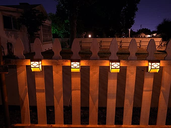 Upgrade solar powered wall mount lights landscape garden yard fence upgrade solar powered wall mount lights landscape garden yard fence outdoor warm lights 8pc aloadofball Choice Image