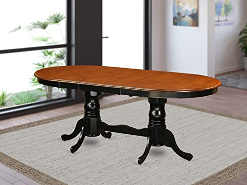 PVT-BLK-TP Table with 18 butterfly Leaf -Black and Cherry.