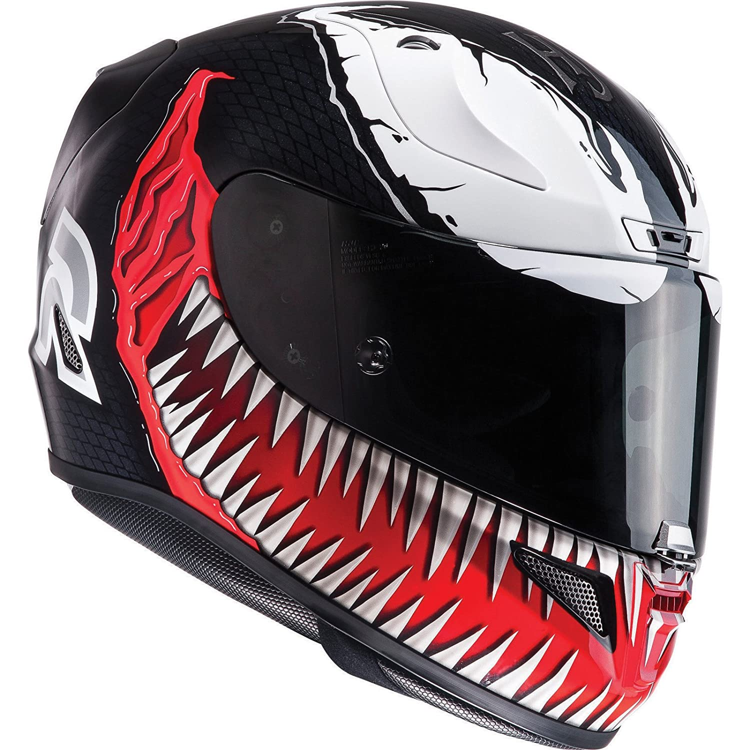 HJC Rpha 11 Venom Casco de Moto, R1VRM, Black White Red ...