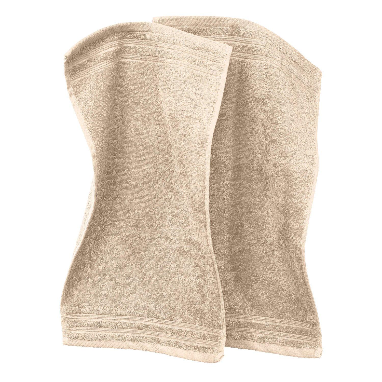 Erwin Müller 2-pack guest towels, Heidelberg black size 30x50 cm