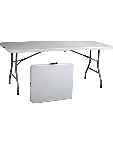 6176d632dbe Rectangle Multi Purpose Center Fold Folding Table - White