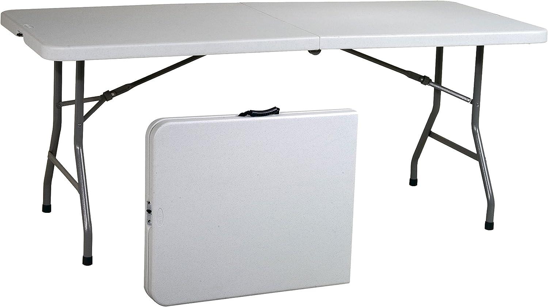 Office Star Resin Multipurpose Rectangle Table, 6-Feet, Center Folding : Kitchen & Dining
