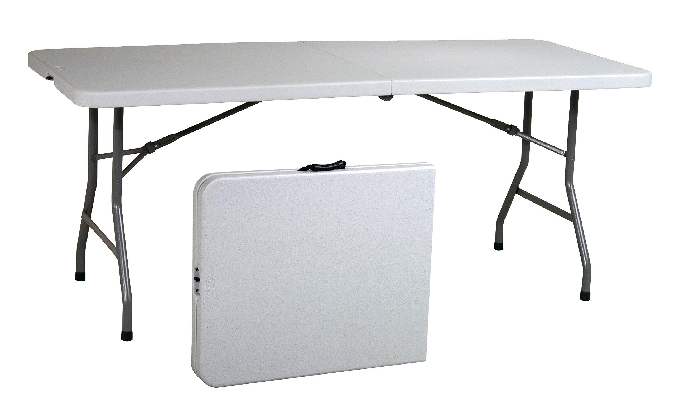 Office Star Resin Multipurpose Rectangle Table, 6-Feet, Center Folding by Office Star
