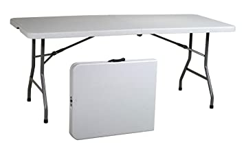 office star resin rectangle table 6feet center folding
