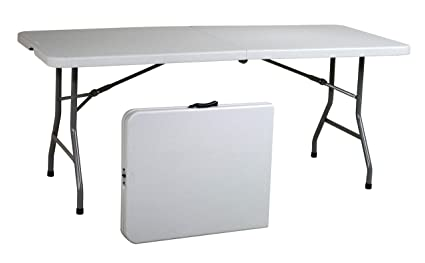 Six Foot Folding Table.Office Star Resin Multipurpose Rectangle Table 6 Feet Center Folding