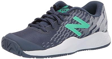 663164a0 New Balance Boys' Kid's 996v3 Hard Court Tennis Shoe, Vintage Indigo/neon  Emerald, 5.5 M US Big