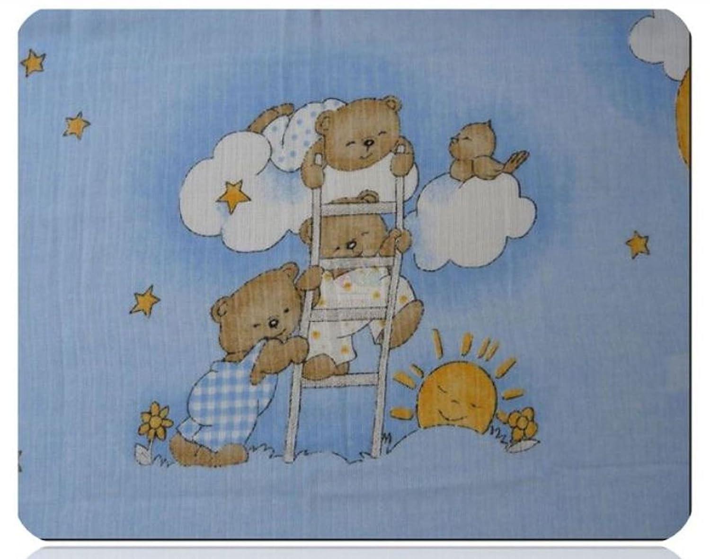 Langes Imprim/é multicolore Lot de 5/chiffons couches en tissu 70/x 80/coton neuf Ours Bleu ciel