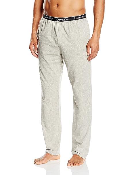 Calvin Klein Pant-Pantalones Hombre Grau (Grey Heather 080) S