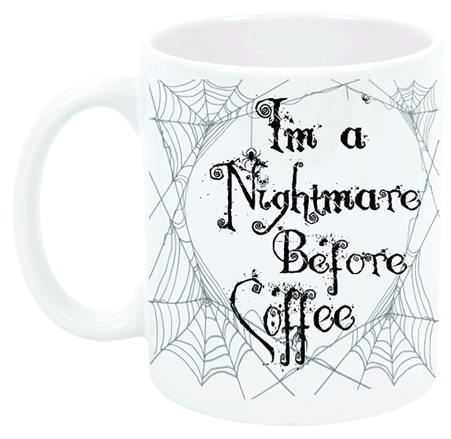 Amazon.com: IM A NIGHTMARE BEFORE COFFEE mug by InkPonyArt. Inspired ...