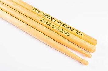 acheter authentique acheter bien nuances de Personnalisé gravé de baguettes de batterie: Amazon.fr ...