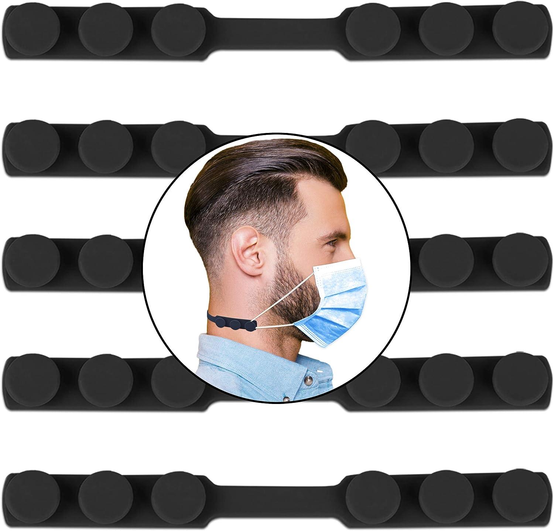 HELAFUN - 5 Piezas - Protector orejas, Sujeta mascarillas, Salvaorejas para mascarillas para niños y adultos