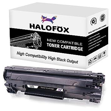 HaloFox 1 Cartuchos de tóner CE285A 85A Negro para HP LaserJet Pro ...
