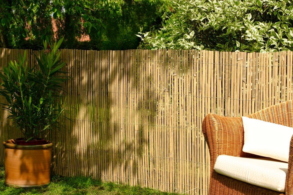 Best Artificial (TM) Bamboo Slat Fencing Screening Roll for Garden Outdoor Privacy - 4m x 1m