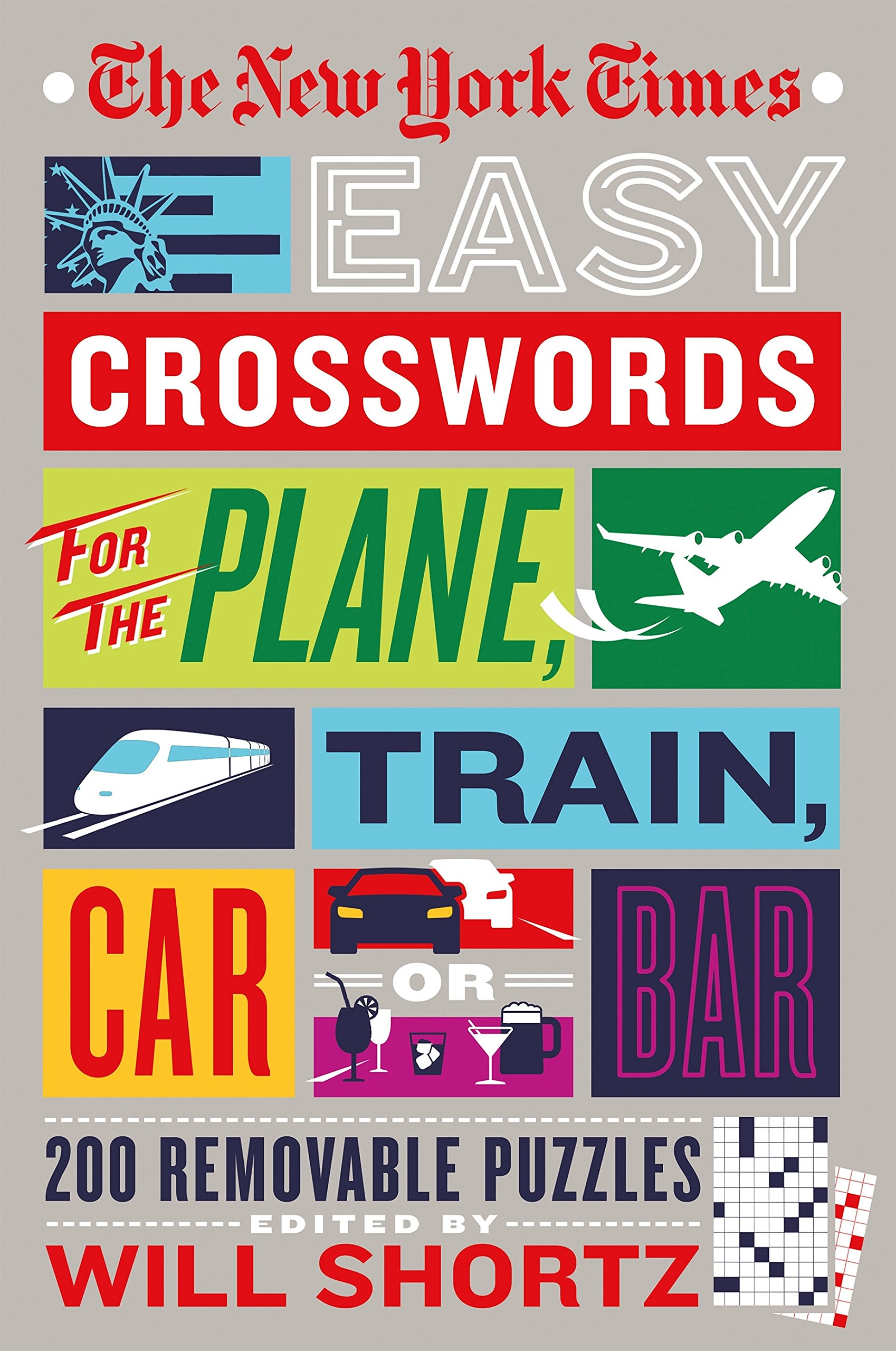 The New York Times Easy Crosswords For The Plane Train Car Or Bar  200 Removable Puzzles