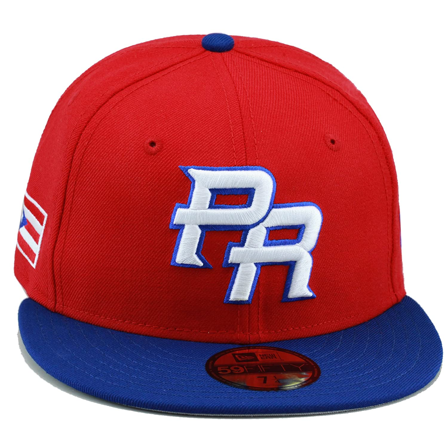 8784c27967d ... discount code for new era wbc pr fitted hat cap red royal puerto rico  flag ad769
