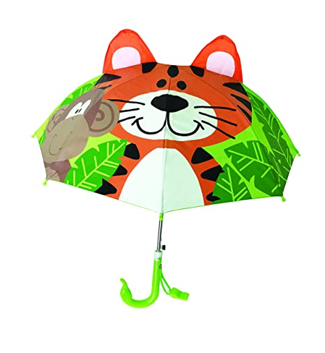 Paraguas largo infantil 3D (Tigre Verde)